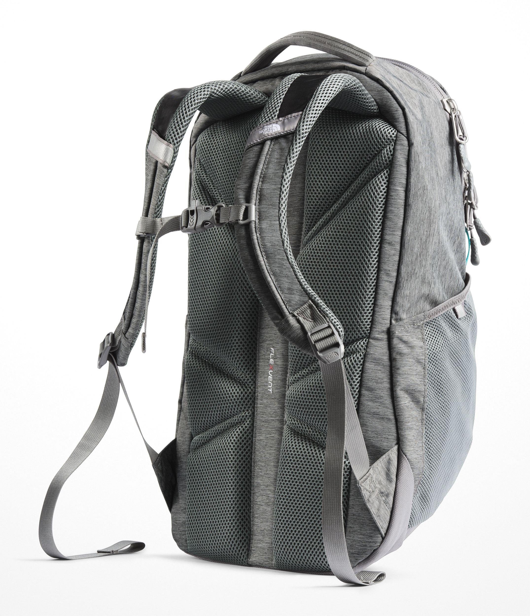 ca3ba6c2b1 The North Face Women's Vault Backpack - Zinc Grey Light Heather & Kokomo  Green - OS