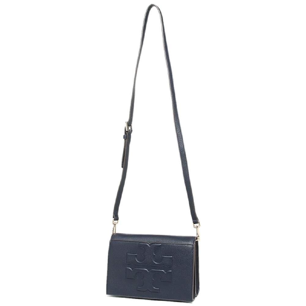 ab0c84757567 Tory Burch 48307 Bombe T Logo Small Leather Cross Body Navy Blue. Product