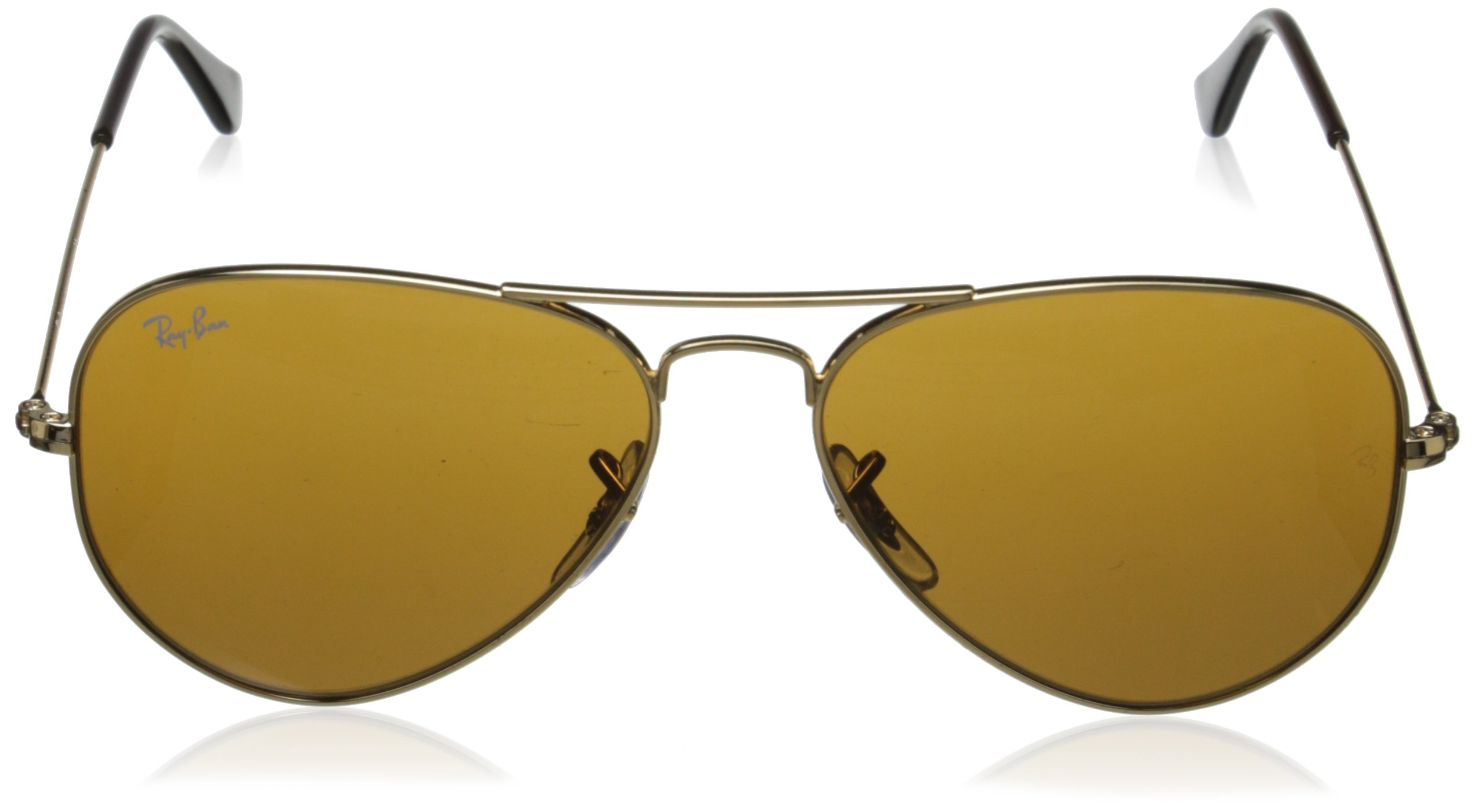 a895d035d0 Ray-Ban AVIATOR LARGE METAL - GOLD Frame CRYSTAL BROWN Lenses 55mm Non- Polarized. Product