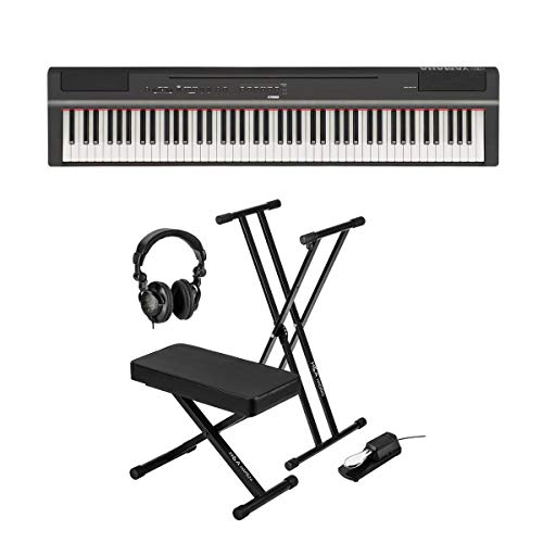 Buyr Com Synthesizer Workstation Keyboards Yamaha P 125 88 Note Digital Piano With Weighted Ghs Action Black Keyboard Stand Keyboard Bench Keyboard Pedal Studio Monitor Headphones