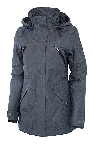Columbia Women's Villa Park Waterproof Mid Hooded Jacket (M, Nocturnal) image 1