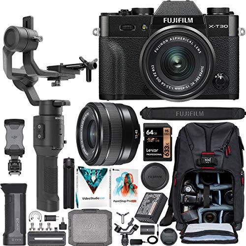 Fujifilm X-T30 Mirrorless 4K Wi-Fi Digital Camera Body with XC 15-45mm Lens Black Filmmaker's Kit with DJI Ronin-SC 3-Axis Handheld Gimbal Stabilizer Bundle + Deco Photo Backpack + 64GB + Software image https://media.buyr.com/OV18L7E_6C4BA34C40E4E5358D62FBDB3BA78585CE3A7151C190666F9CBA1275CE0E043E-rk1Rh1iNu4PSgfvEvZGLtQ.jpg1