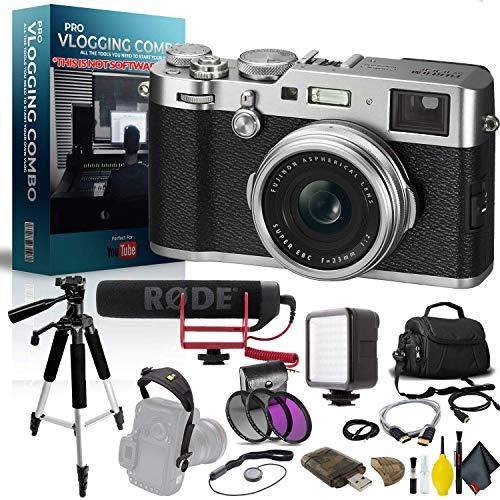 FUJIFILM X100F Digital Camera (Silver) Pro Vlogger Combo image 1