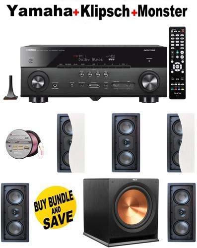 5 Klipsch - R2502WII + Klipsch - R115SW + Monster Cable - PLATXPMS50 Bundle + Yamaha RX A760 Receiver image 1