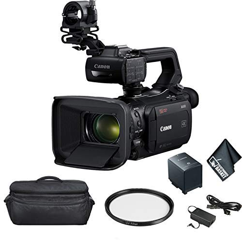 Canon XA50 Professional UHD 4K Camcorder 3669C002 Bundle with Carrying Case + UV Filter + More image https://media.buyr.com/OV18L7E_8BBE8552225D30EB04CD6616F0A43137A4F02887B6F6DF452E00A5F22DFAA5F7-8X8hvePawHh9GOXQzqrorw.jpg1