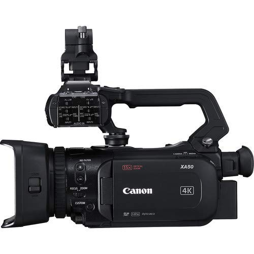 Canon XA50 Professional UHD 4K Camcorder 3669C002 Bundle with Carrying Case + UV Filter + More image https://media.buyr.com/OV18L7E_8BBE8552225D30EB04CD6616F0A43137A4F02887B6F6DF452E00A5F22DFAA5F7-A-jAKr8dmrzyoEa8NcrDoQ.jpg1