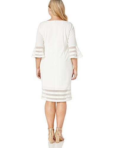 Calvin Klein Women's Size Bell Sleeve Sheath with Sheer Inserts Dress, White, 20 Plus image https://media.buyr.com/OV18L7E_DE01CF36F35D179ABE6EDAE2CCA20CF43A73DA896E16DFD751146E46F4E88D9A-WBMJKx82ulkKftmPaEk07A.jpg1