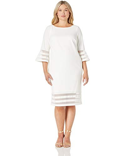 Calvin Klein Women's Size Bell Sleeve Sheath with Sheer Inserts Dress, White, 20 Plus image https://media.buyr.com/OV18L7E_DE01CF36F35D179ABE6EDAE2CCA20CF43A73DA896E16DFD751146E46F4E88D9A-jZekZ5onMDlDyY6FoGQLeg.jpg1