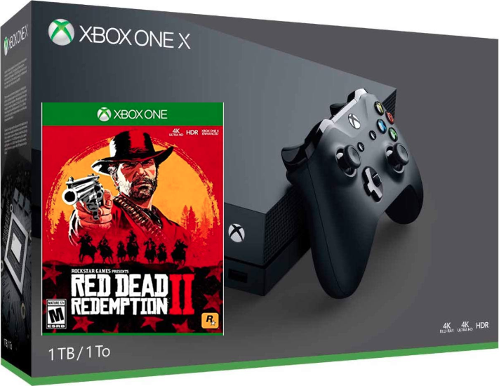 Microsoft Xbox One X 1TB Console, Red Dead Redemption 2 Bundle