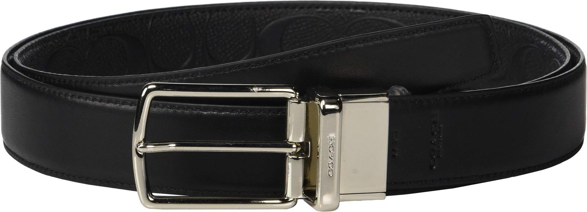 53b270f5c554 buyr.com - Coach Black Brown Leather Cut-to-Size Reversible Belt F64842  (BLACK DARK BROWN)